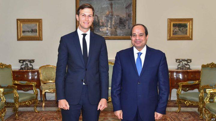 السيسي:مصر تدعم جميع الجهود للتوصل لحل عادل للقضية الفلسطينية