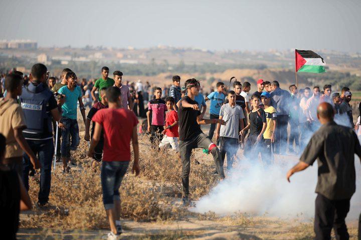 اصابات في الجمعة ال(69) لمسيرات العودة شرق قطاع غزة