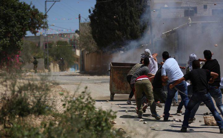 اصابتان طفيفتان خلال قمع الاحتلال لمسيرة كفر قدوم الأسبوعية