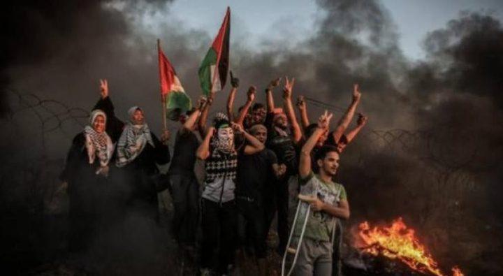 """الجمعة القادمة بعنوان """"الشباب الفلسطيني"""" بمسيرات العودة شرق غزة"""