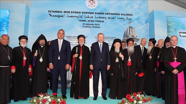 وضع حجر الأساس لأول كنيسة في مدينة إسطنبول