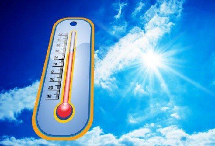 اجواء حارة الى شديدة الحرارة