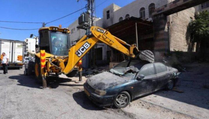 اتلاف 92 مركبة غير قانونية في ضواحي القدس