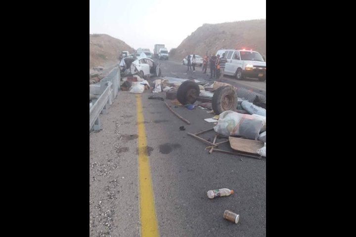 وفاة طفل وإصابات بحادث سير ببلدة الجفتلك بالأغوار