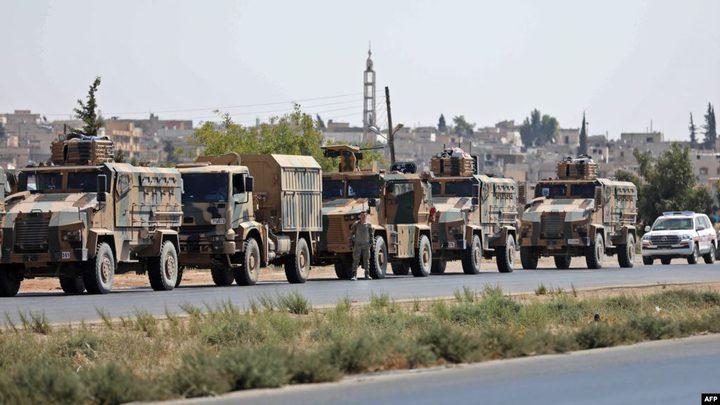 رتل تركي من 15 آلية ومصفحة يدخل الأراضي السورية