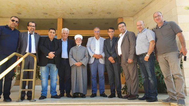 """اللواء النتشة يلتقي مدير عام """"بيت مال القدس"""""""