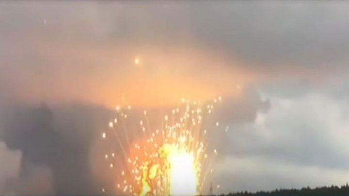 انفجاران بمستودع للذخيرة في سيبيريا