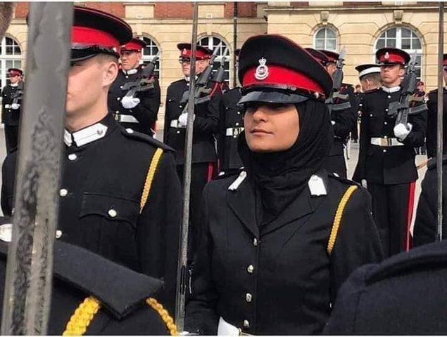 تخرج اول ضابطة فلسطينية من الاكاديمية العسكرية في لندن