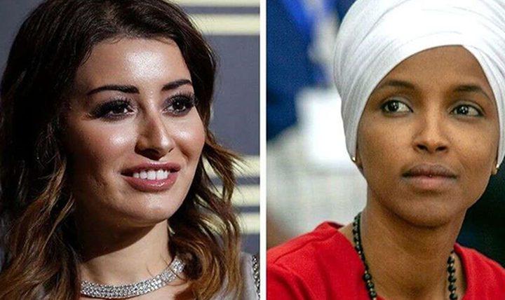 ملكة جمال العراق تهاجم حماس والهان عمر فماذا قالت..؟!
