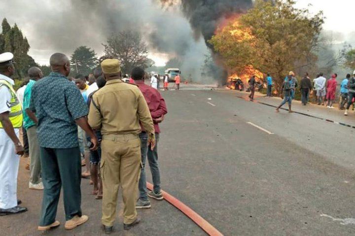 الرئيس يعزي نظيره التنزانيبضحايا حادث انفجار خزان للوقود