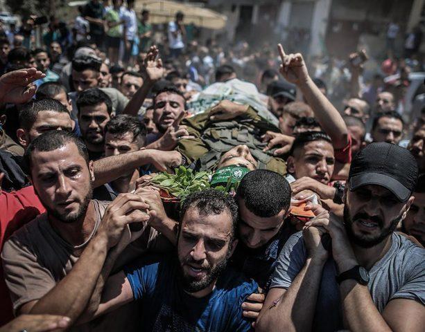 بيت حانون تشيع جثمان الشهيد مروان ناصر