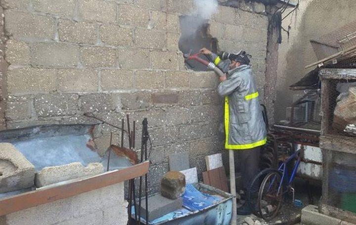 حريق بأحد المنازل يخلف إصابتين في خانيونس جنوب القطاع