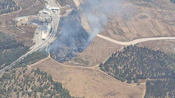 الاحتلال: حريق ضخم قرب مستوطنة غوش عتصيون