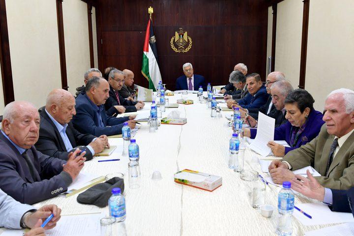 التنفيذية تؤكد على متابعة قرار القيادة بوقف الاتفاقات مع الاحتلال