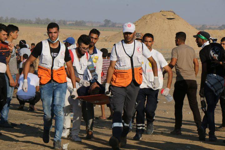 عشرات الاصابات جراء قمع الاحتلال لمسيرات العودة شرق غزة