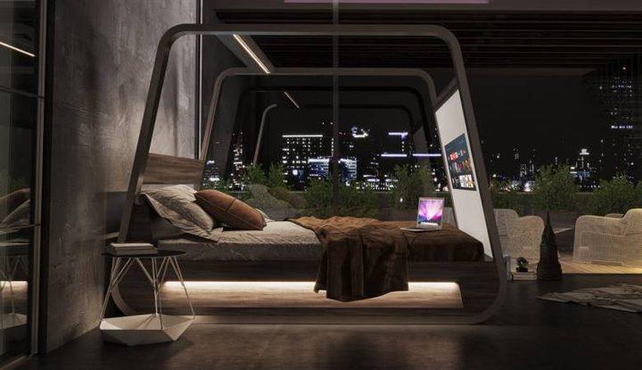 """""""السرير الذكي""""..يمنح كل مزايا الذكاء الصناعي للنوم والترفيه"""