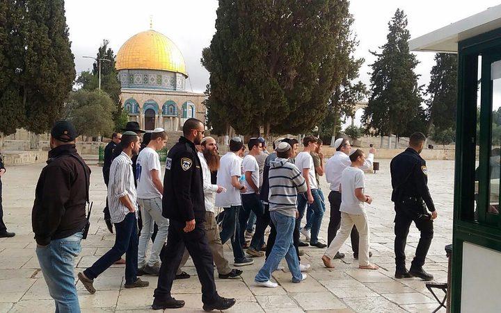 مستوطنون يقتحمون الاقصى بحماية قوات الاحتلال