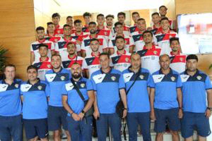 وصول بعثة المنتخب الأردني المشاركة في بطولة اتحاد غرب آسيا