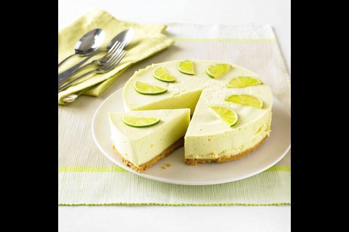 تشيز كيك الليمون الأخضر الحامض