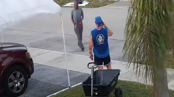 مجهول يهاجم رجلا بسيف