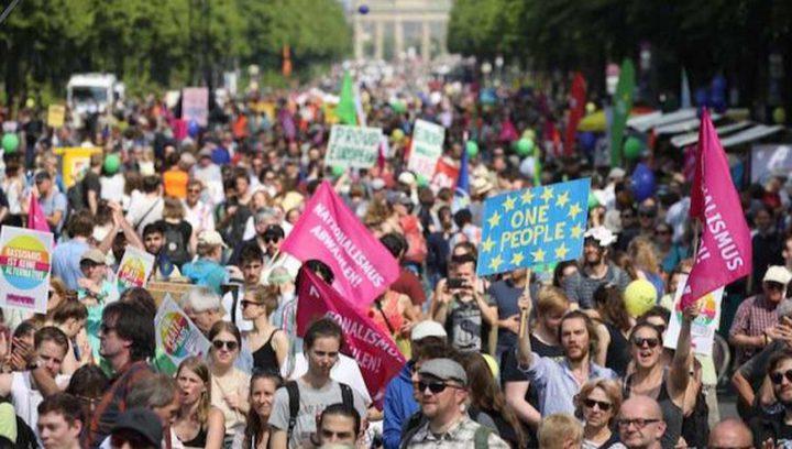 الآلاف يتظاهرون في شرقي ألمانيا ضد اليمين المتطرف