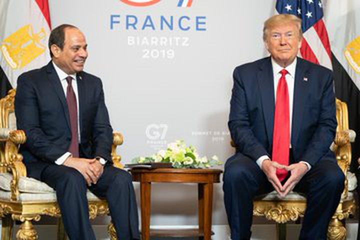ترامب يجتمع بالرئيس المصري ويشيد بالنتائج