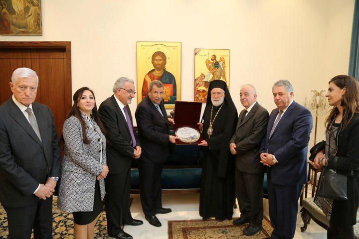 خوري يلتقي رئيس وأعضاء جمعية اللد الوطنية