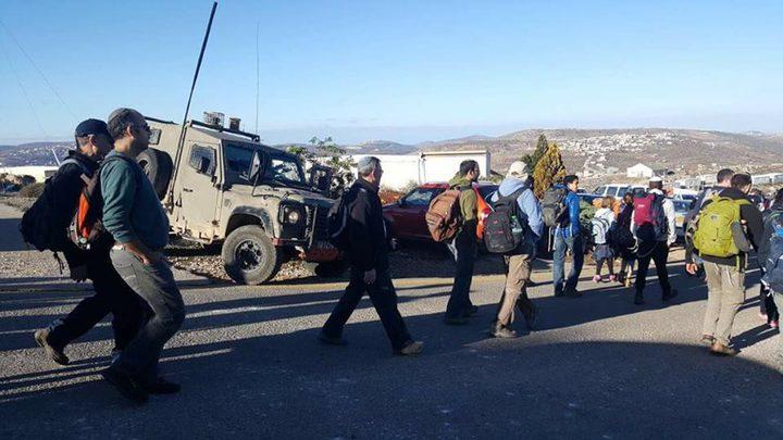 مستوطنون يقتحمون منطقة المسعودية الأثرية شمال نابلس