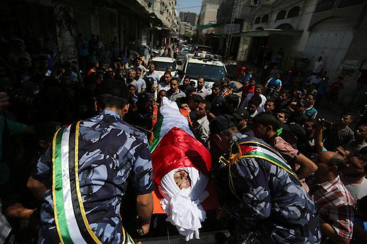 تشييع جثامين شهداء تفجيري أمس في قطاع غزة