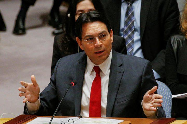 دانون يطالب بإدانة سوريا