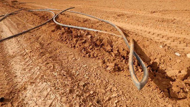 تدمير خطوط مياه في الأغوار الشمالية