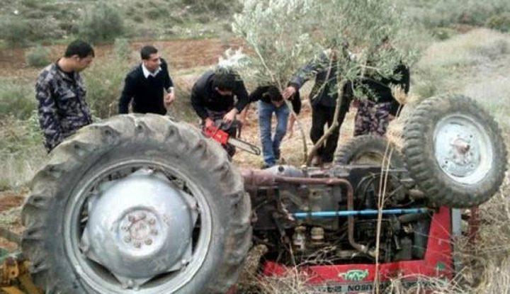 مصرع مواطن بحادث انقلاب جرار زراعي في نابلس