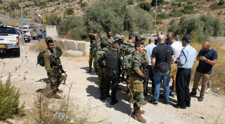 """مستوطنون يقتحمون """"عين بوبين"""" غرب رام الله"""