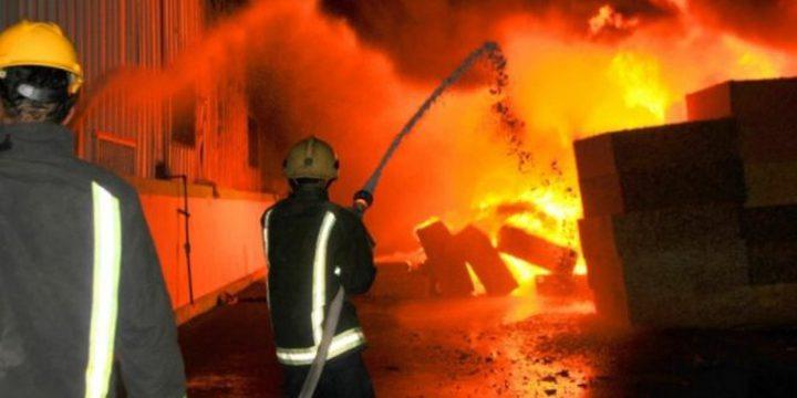 الدفاع المدني يخمد حريقا بجوار مدرسة في السيلة الحارثية غرب جنين