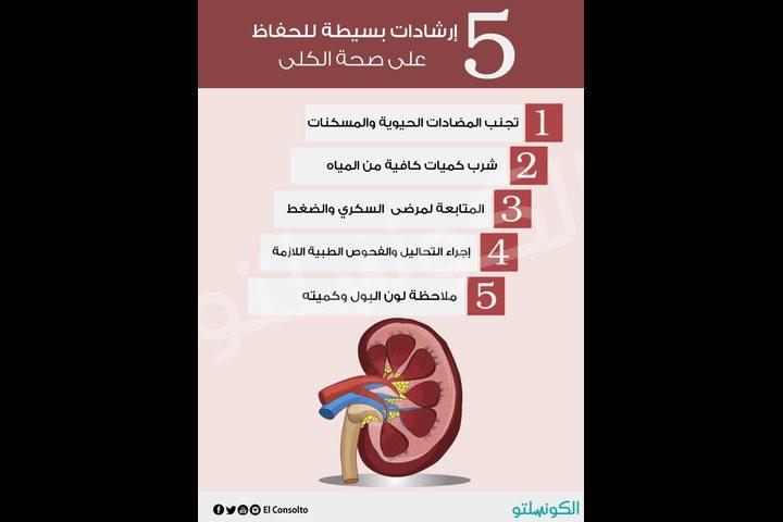 نصائح للحفاظ على صحة الكلى