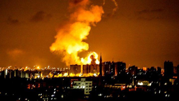 حريق بسبب مولد لتوزيع الكهرباء في شارع اليرموك بمدينة غزة