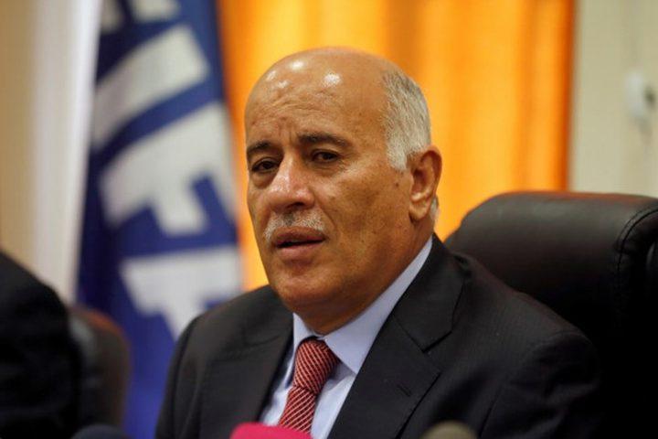 الرجوب: أمام الفلسطينيين سيناريوهان وما حدث بالخليل اختبار