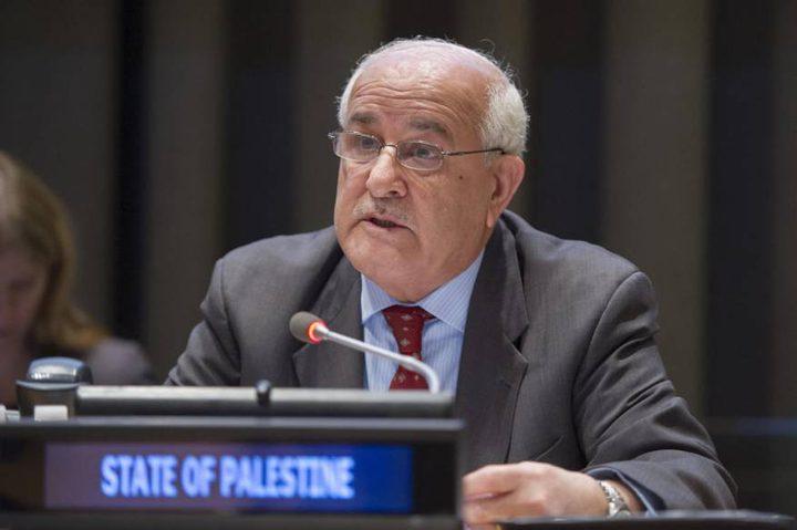 السفير منصور: مساعٍ فلسطينية لاعتماد قرارات أممية جديدة