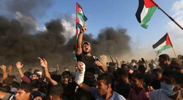 """غزة تستعد لجمعة """"حماية الجبهة الداخلية"""" بمسيرات العودة"""
