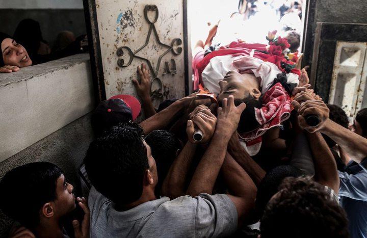 غزة: تشييع جثماني الشهيدين الربعي والأشقر