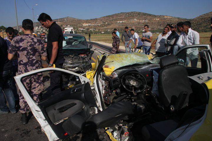 إصابة ثلاثة مواطنين بجروح في حادث سير جنوب جنين