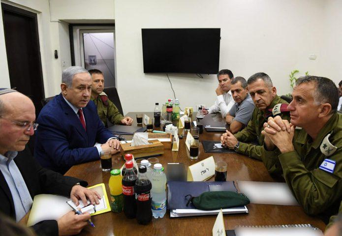 نتنياهو يجتمع بالكابينيت بعد صواريخ غزة