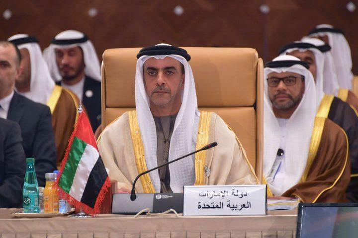 الإمارات تستنكر إعلان نتنياهو