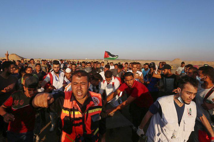 اصابات بالرصاص الحي و الاختناق خلال قمع الاحتلال لمسيرات العودة
