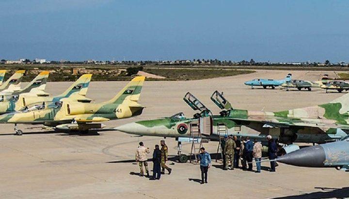 قوات الوفاق الليبية تدمر غرفة عمليات بقاعدة الجفرة الجوية