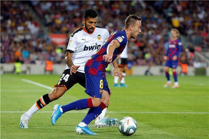 برشلونة يحقق فوزا ثمينا على فالنسيا بخمسة أهداف لهدفين