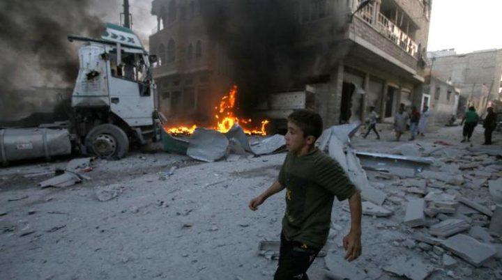 المرصد السوري : مقتل ستة مدنيين في قصف صاروخي على ادلب