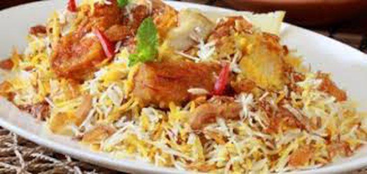 أرز البرياني مع سمك الفيليه