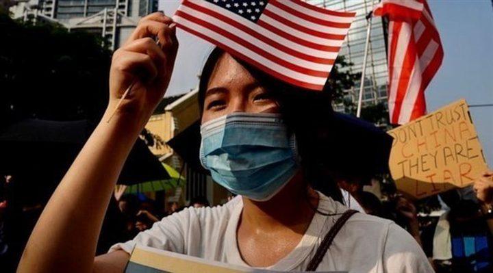 متظاهرون هونج كونج يطالبون بالضغط على الصين