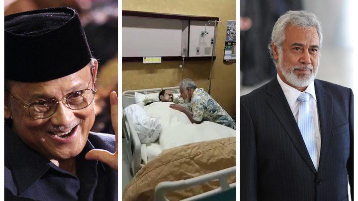 شاهد لحظات مؤثرة بين رئيسين سابقين قبيل وفاة أحدهما